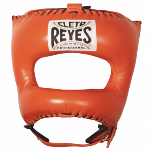 Cleto Reyes Pointed Facebar Headguard - Tiger Orange